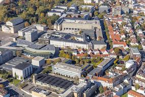 Luftbilder TU-Darmstadt Campus Oktober 2017